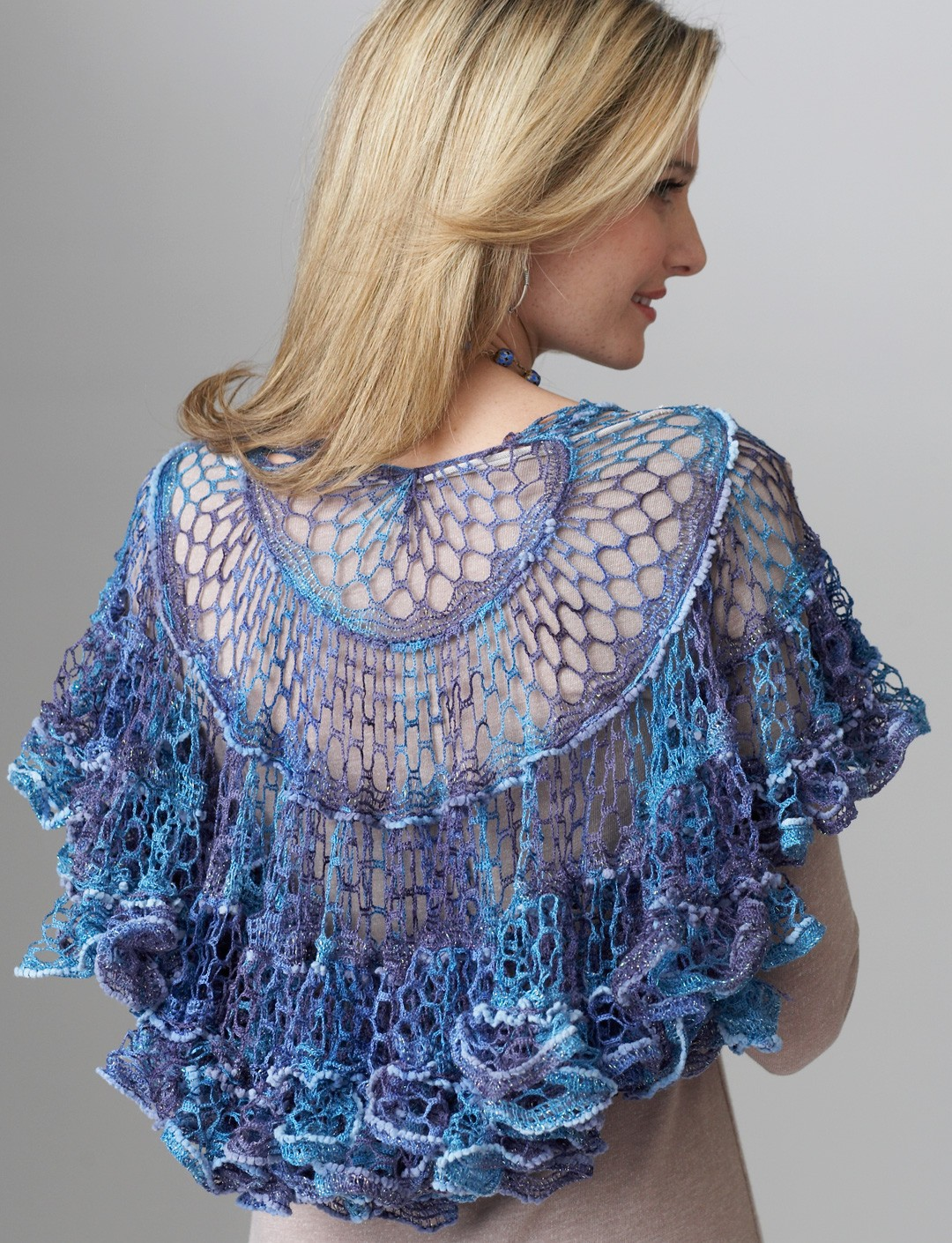 Crochet Patterns With Super Fine Yarn : Shawl Yarnspirations