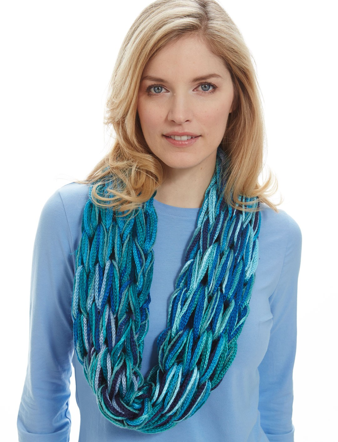 I-Cord Arm Knit Cowl