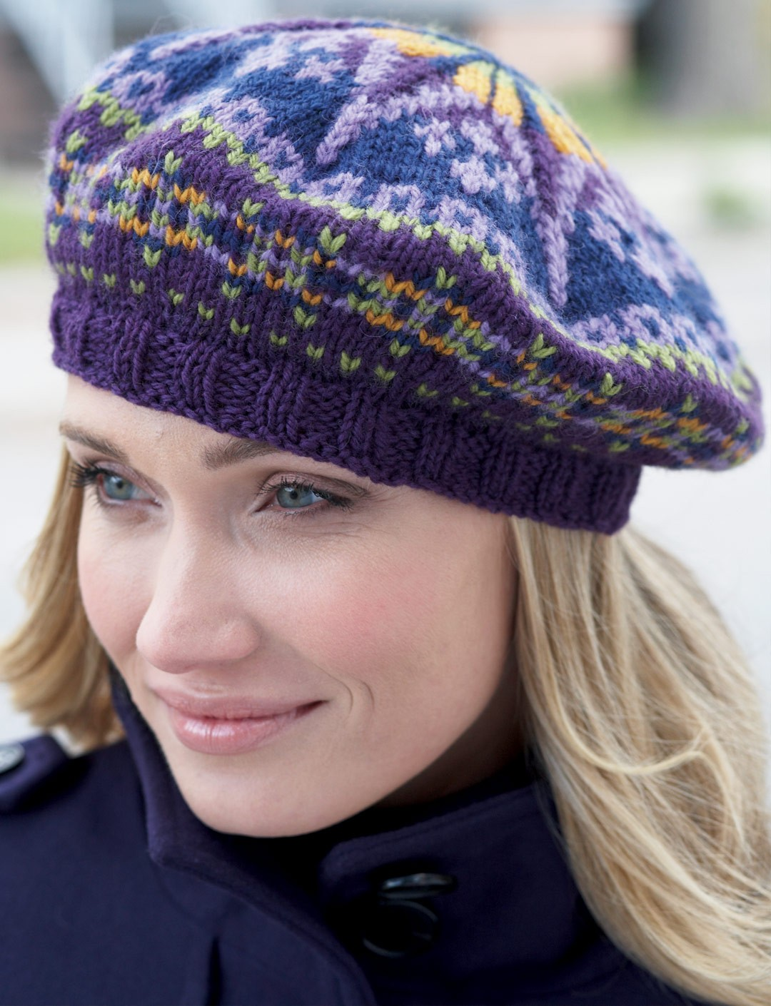 Free Fair Isle Knitting Patterns Hats : Patons Fair Isle Tam, Knit Pattern Yarnspirations