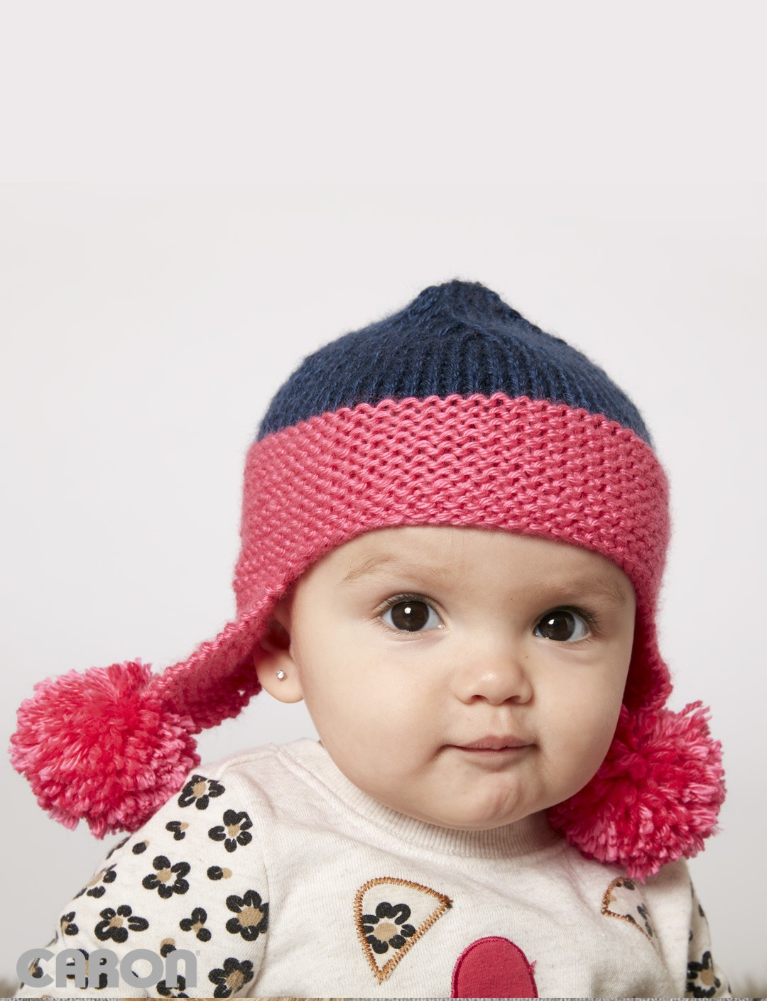 Free Knitting Patterns For Toddler Earflap Hats : Caron Baby Earflap Hat, Knit Pattern Yarnspirations