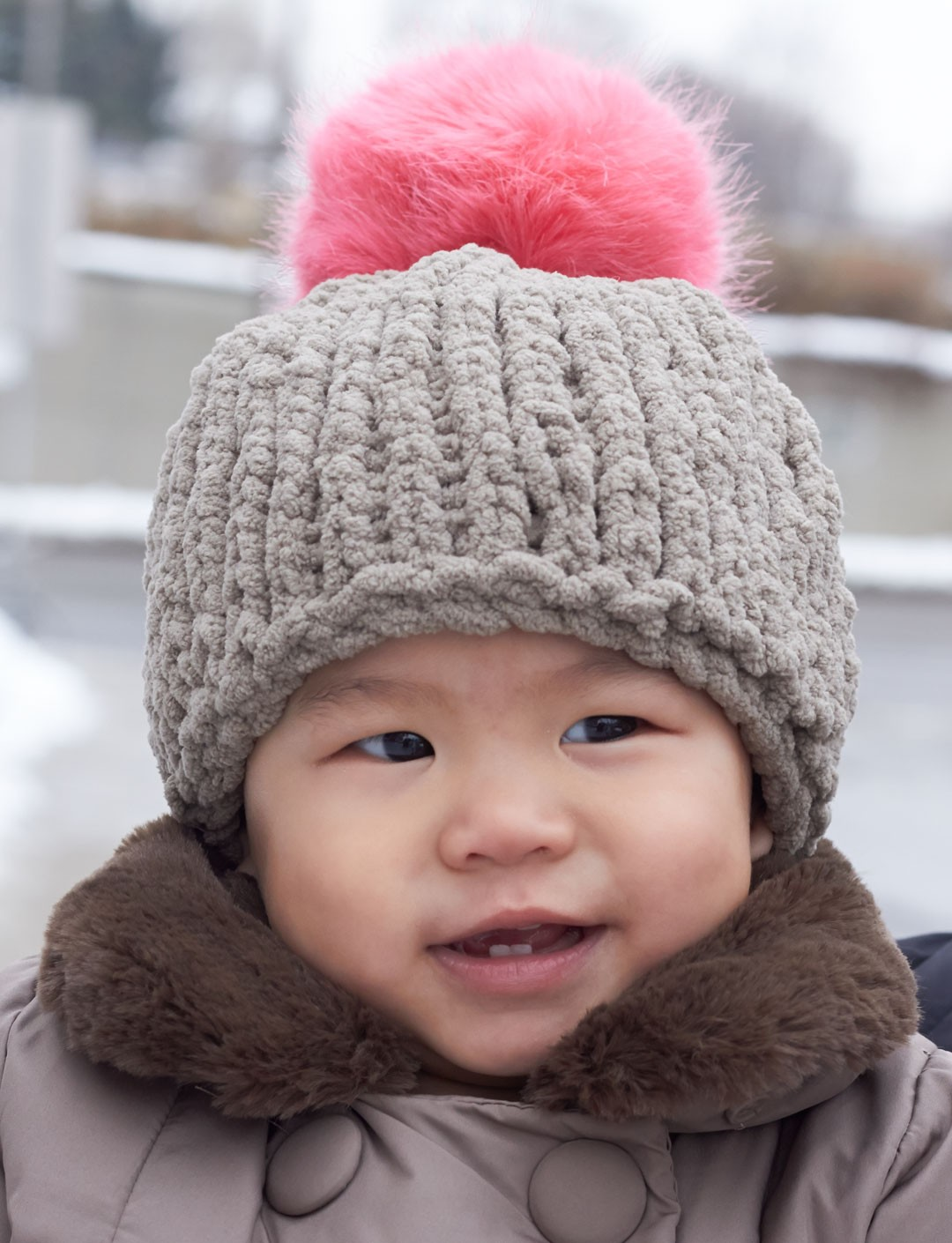 Free Knitted Baby Hat Patterns : Bernat Big Stitch Baby Hat, Knit Pattern Yarnspirations