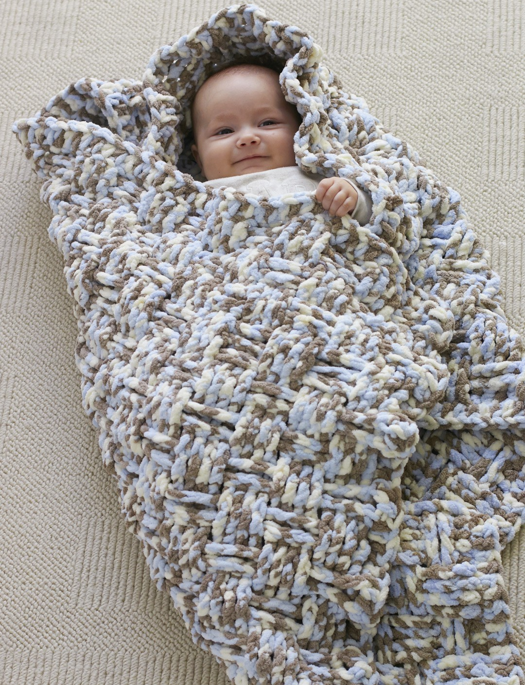 Easy Crochet Baby Blanket Patterns For Beginners : Bernat Dream Weaver Blanket, Crochet Pattern Yarnspirations