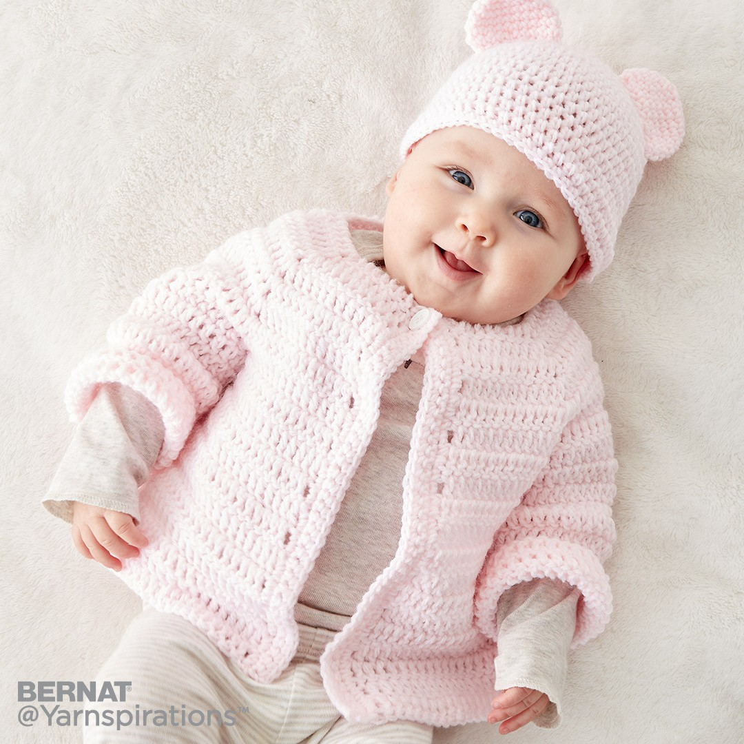 Crochet Baby Jacket Set