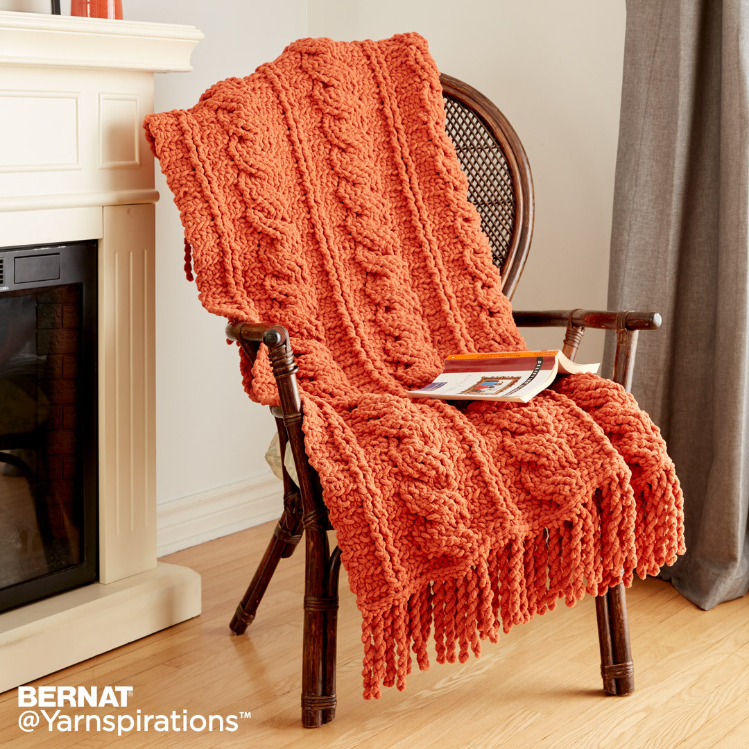 Crochet Cables Afghan