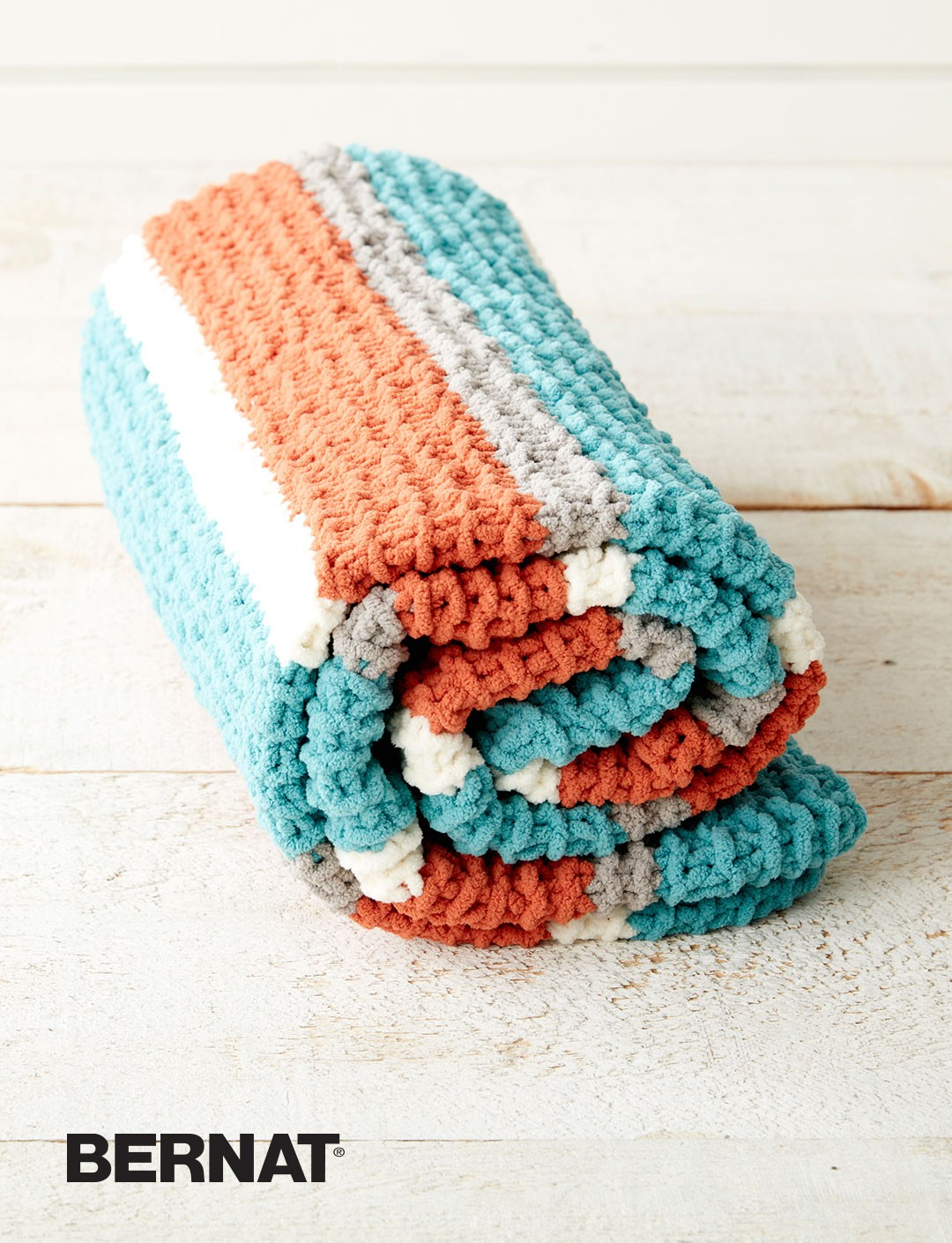 Knitting Patterns Bernat Blanket Yarn : Bernat Get Fresh Throw, Knit Pattern Yarnspirations