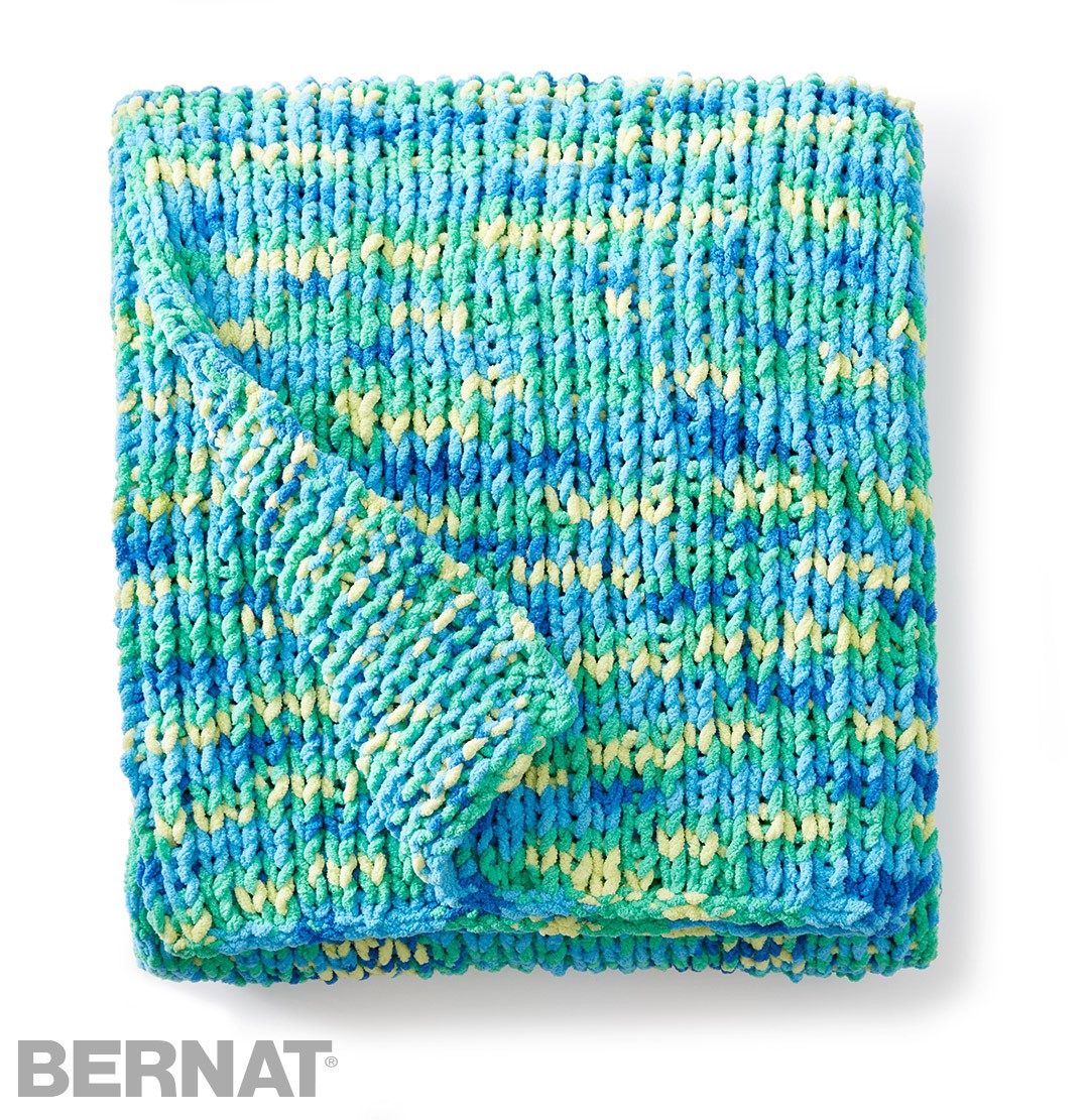 Bernat Knitting Patterns Free : Bernat Supersquish Knit Blanket, Knit Pattern Yarnspirations