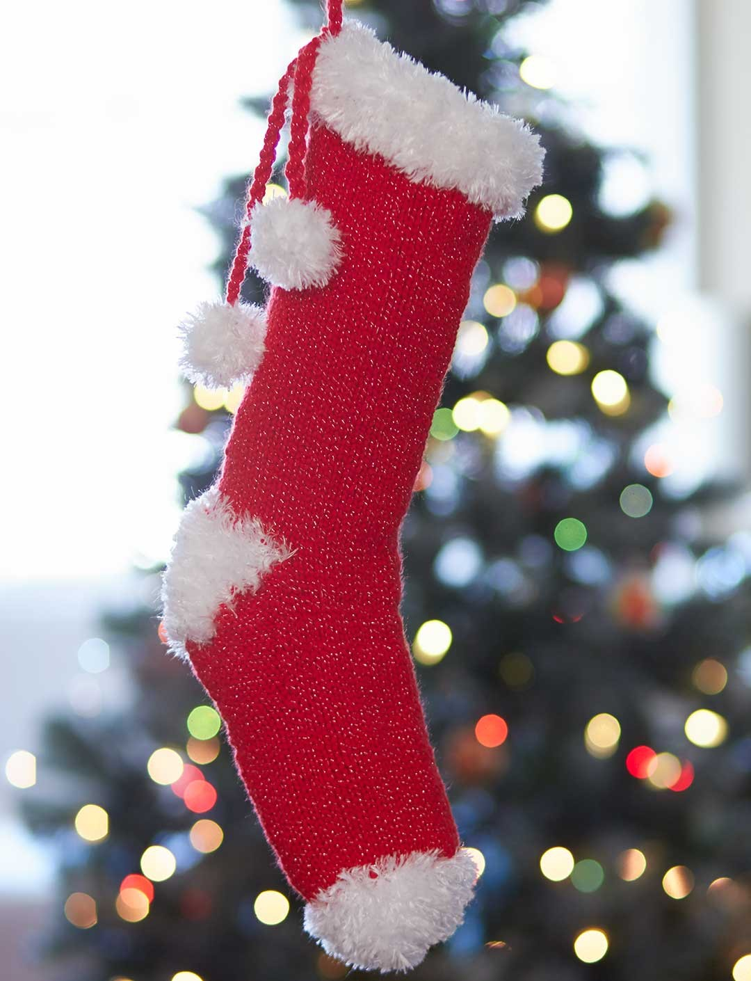 Easy Stocking Knitting Pattern : Bernat Craft Fair Christmas Stocking, Knit Pattern Yarnspirations