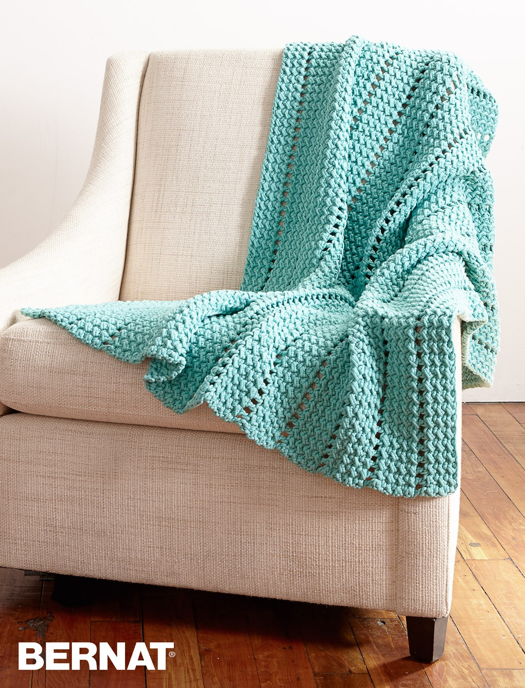 Eyelets and Textures Blanket
