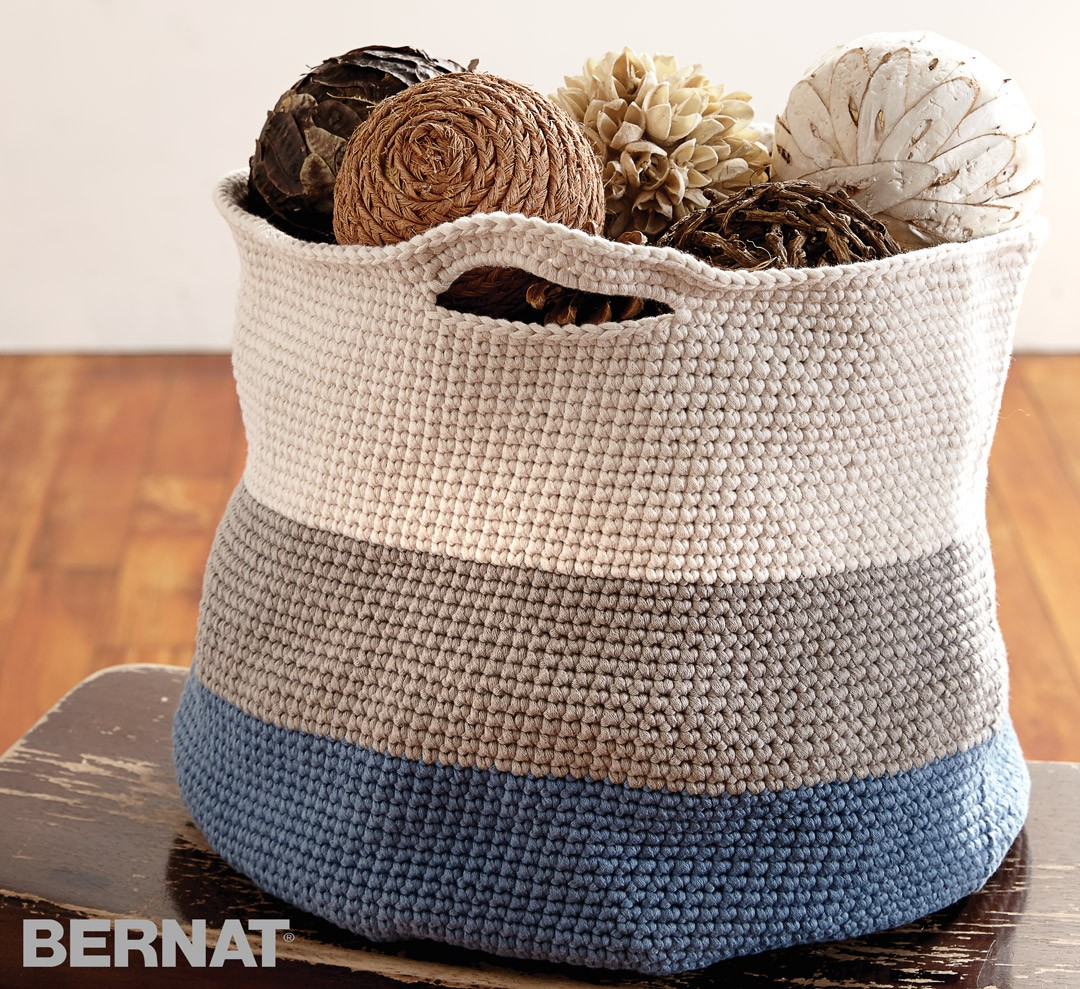 Bernat Handy Basket Crochet Pattern Yarnspirations