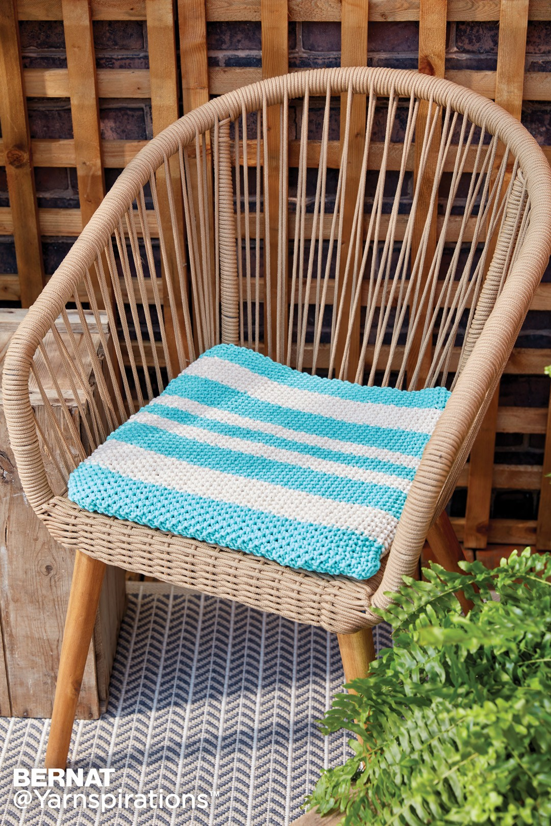 Bernat Knit Seat Cushion