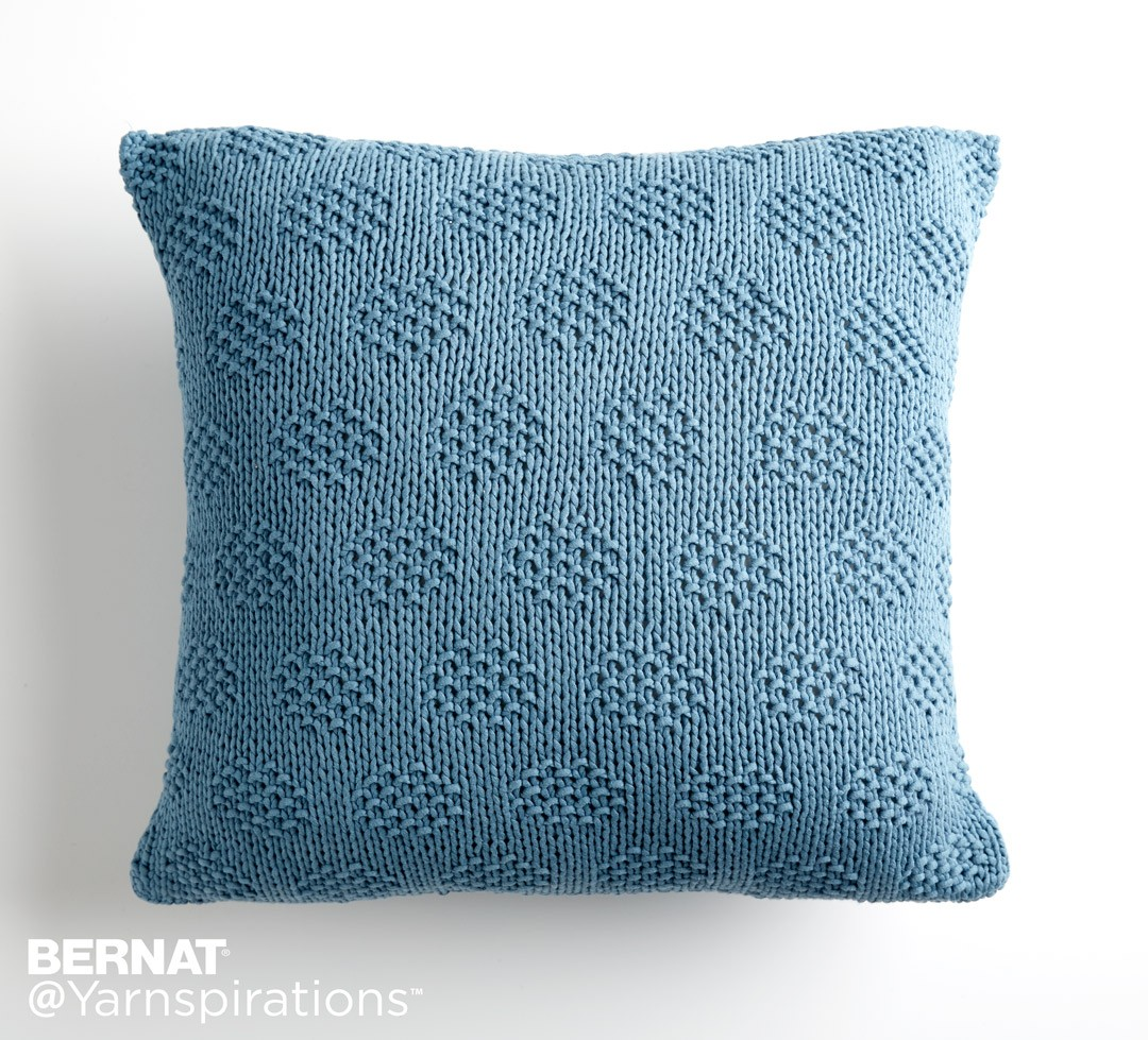 Mossy Dots Knit Pillow