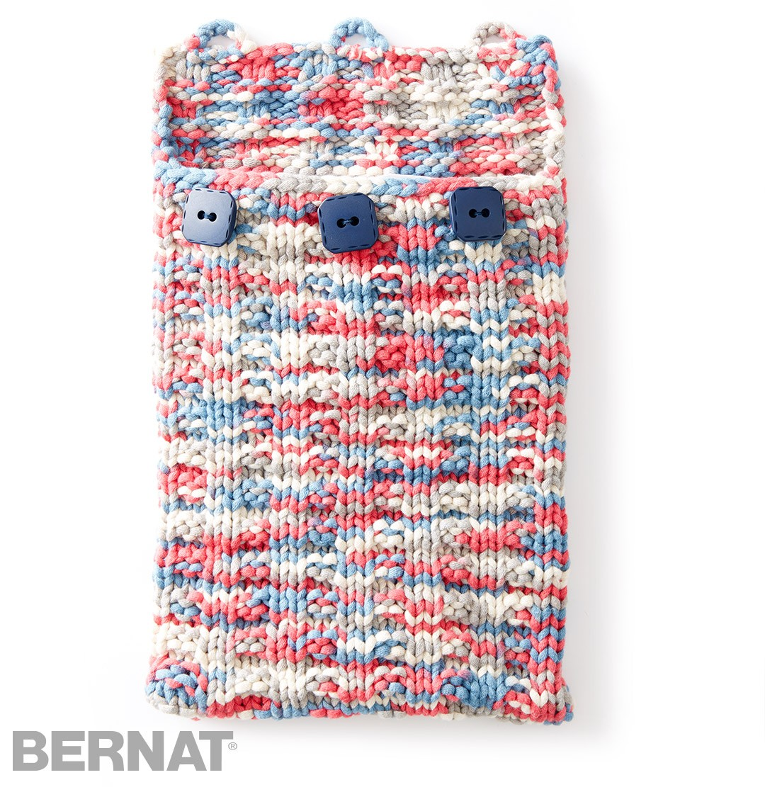 bernat undercover knit tablet case knit pattern