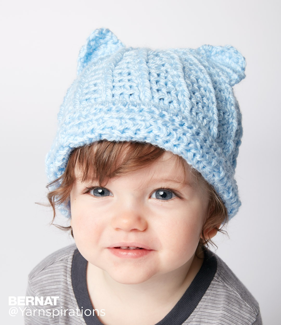 Baby hat crochet patterns yarnspirations baby crochet kitty hat bankloansurffo Choice Image