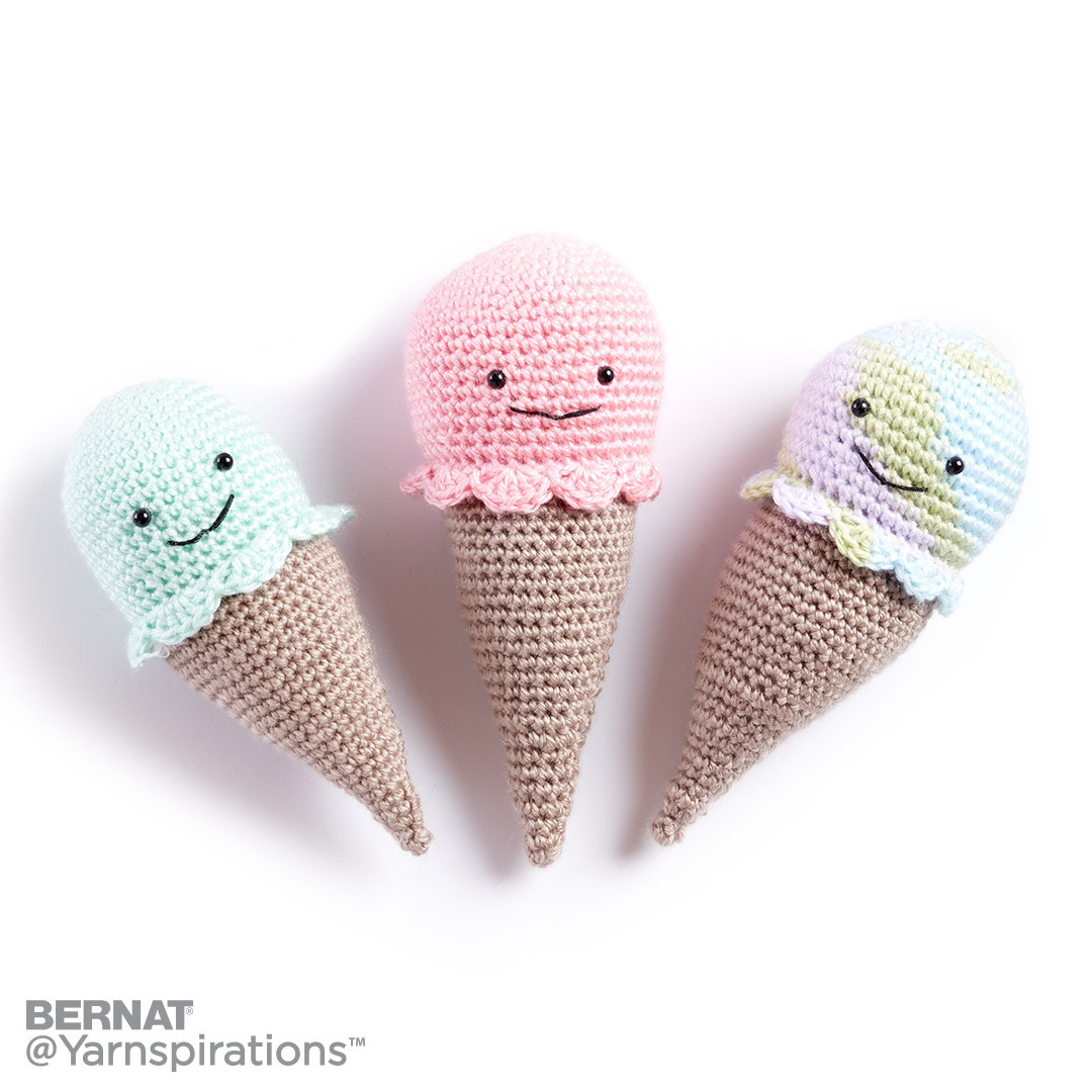 Crochet Ice Cream Cone Rattle