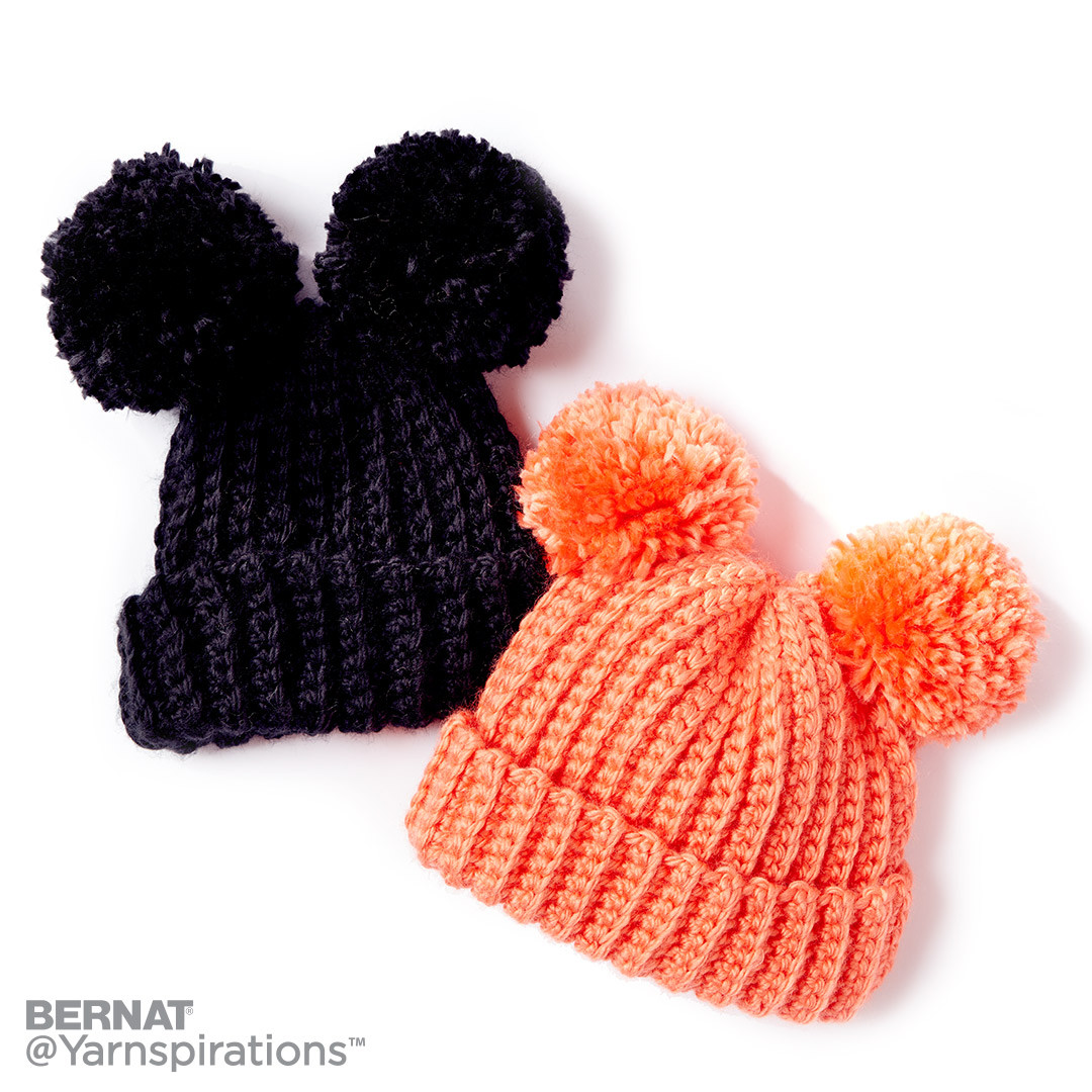 Easy baby hat crochet patterns yarnspirations adorable pompom crochet hat bankloansurffo Image collections