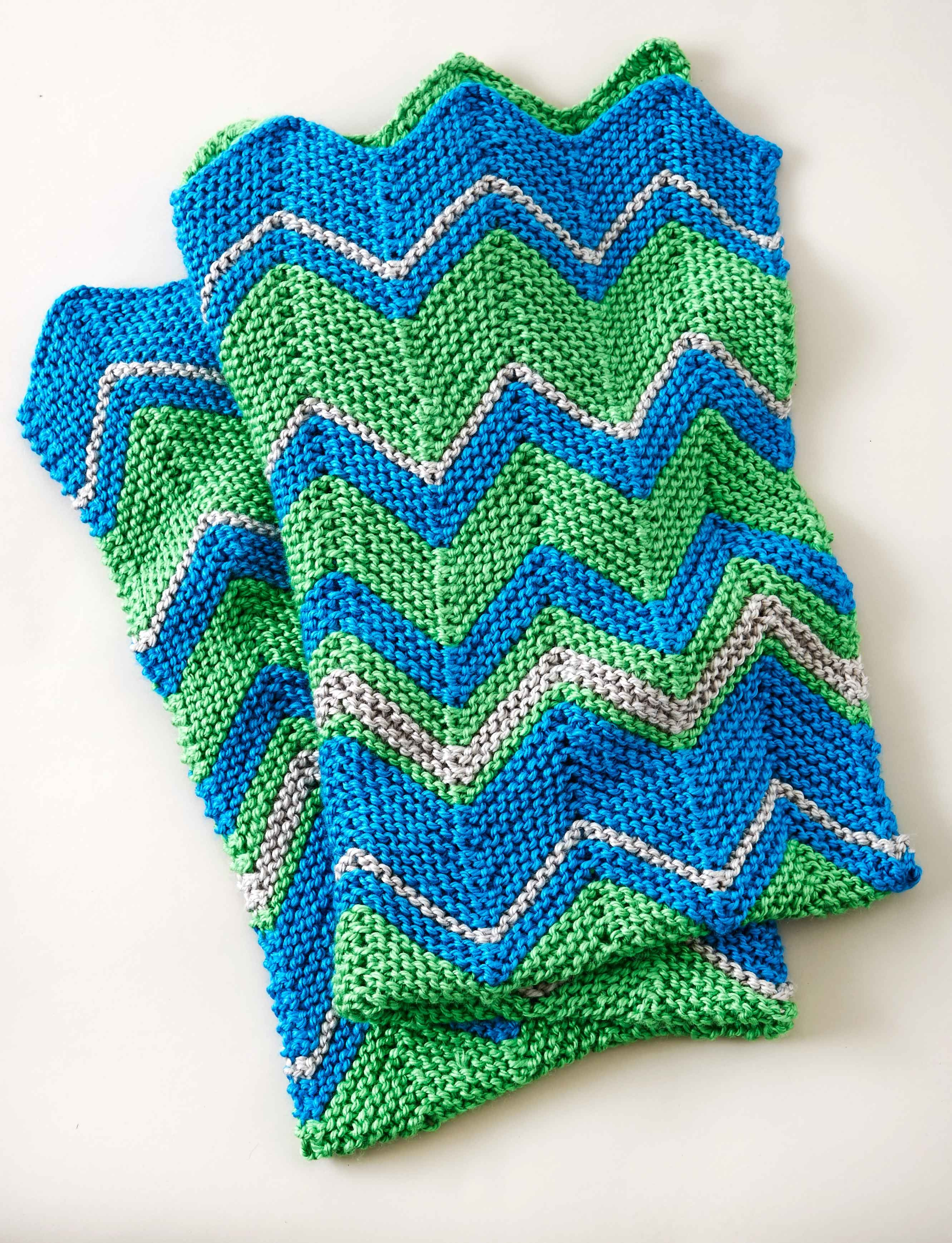 Attractive Knitted Zig Zag Blanket Pattern Image Collection - Easy ...