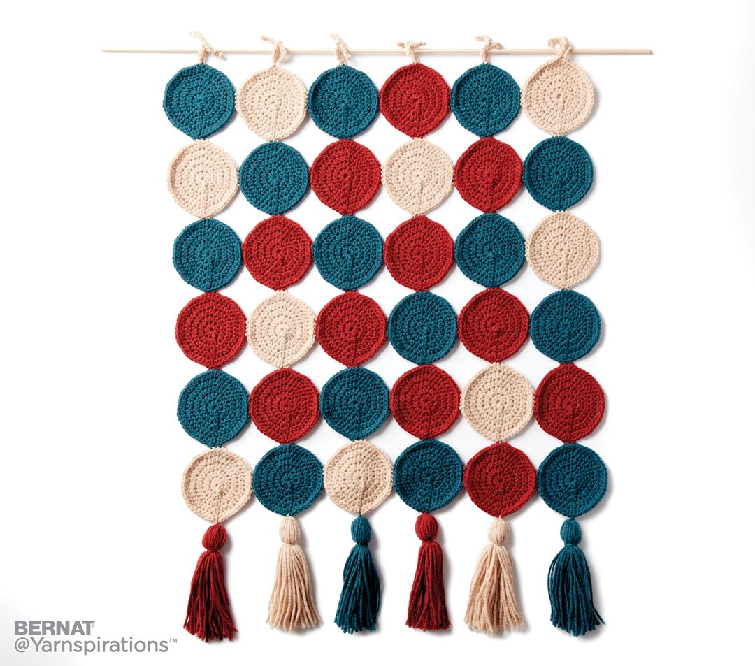 Round In Circles Crochet Wall Hanging