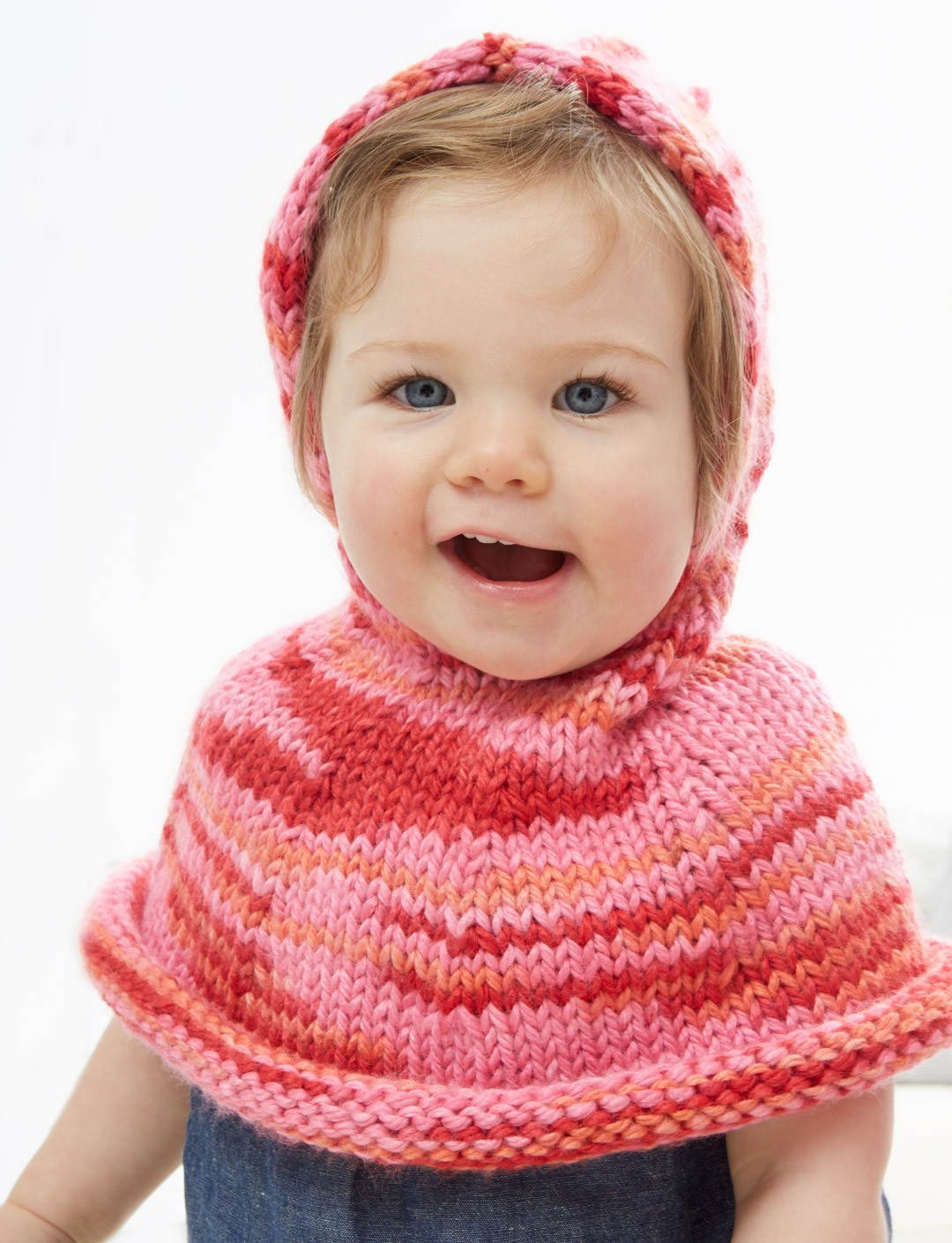 Free kids sweater knitting patterns yarnspirations poncho a go go bankloansurffo Choice Image