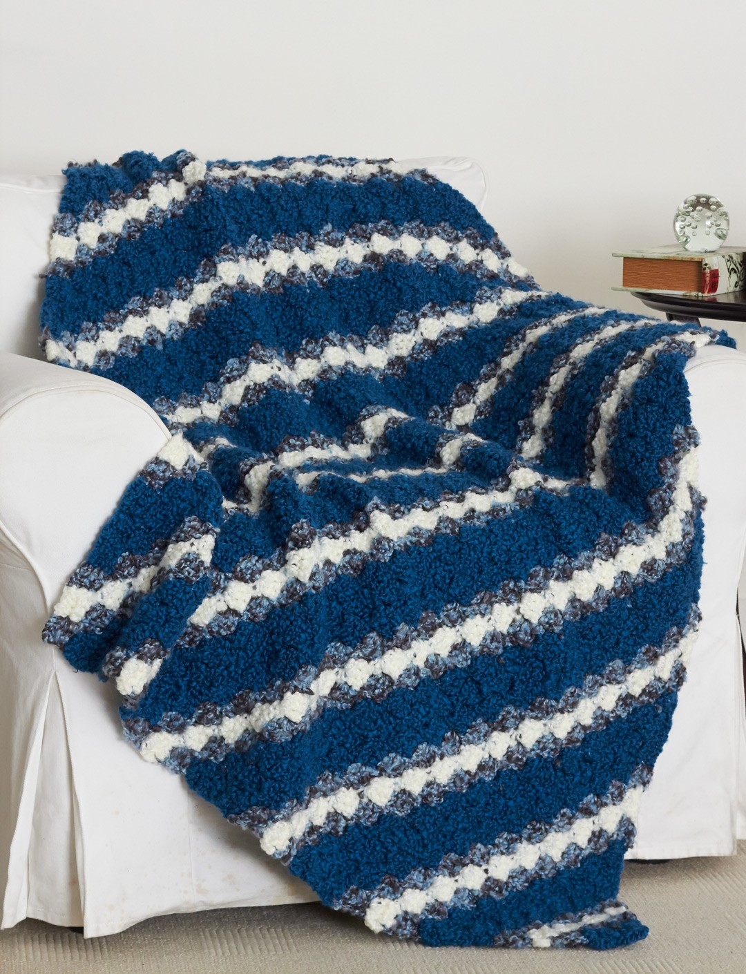 Bias Stripes Afghan