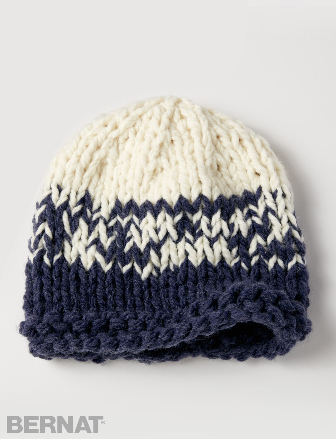 Free Knitting Pattern Hat Bulky Yarn : Bernat Bulky Gradient Hat, Knit Pattern Yarnspirations