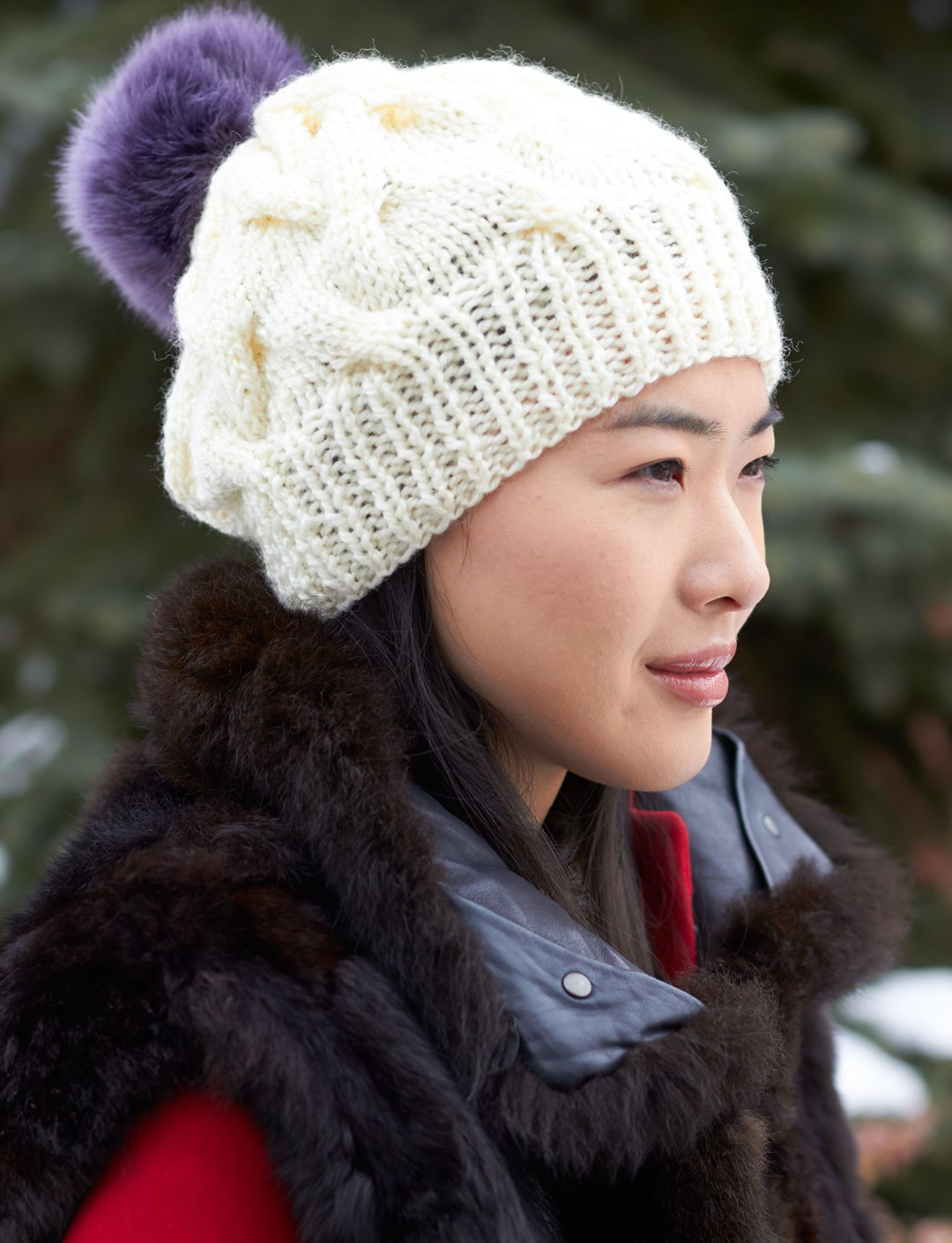 Patons Cable Hat, Knit Pattern Yarnspirations
