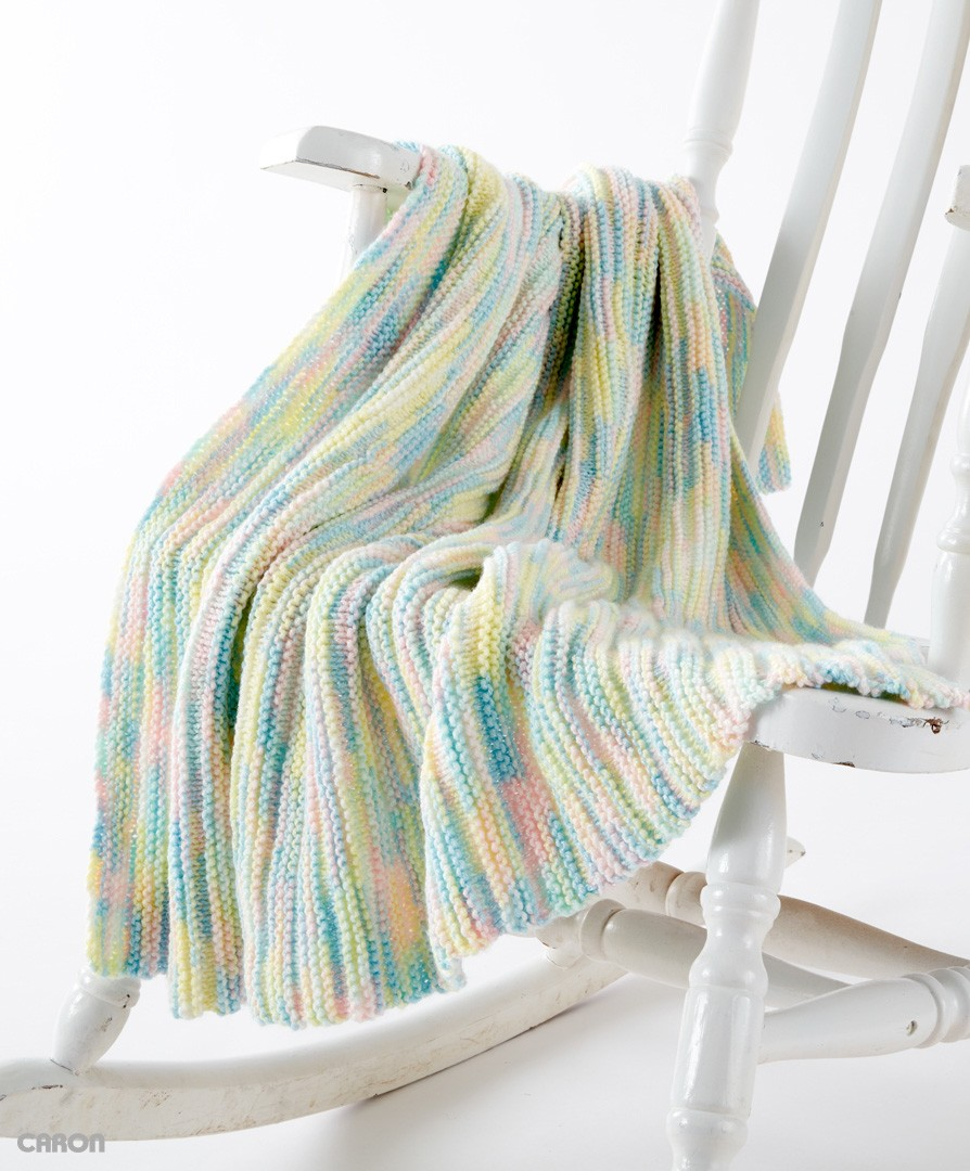 Awesome Rainbow Blanket Knitting Pattern Ornament - Blanket Knitting ...