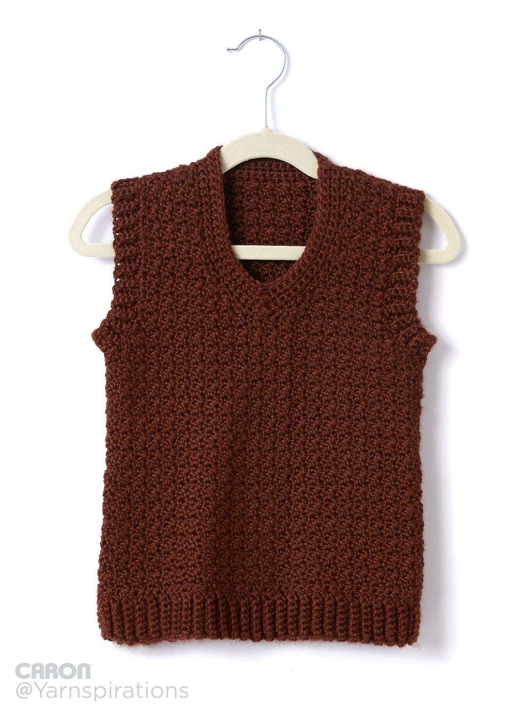 Crochet Patterns For Childrens Vests : Caron Childs Crochet V-Neck Vest, Crochet Pattern ...