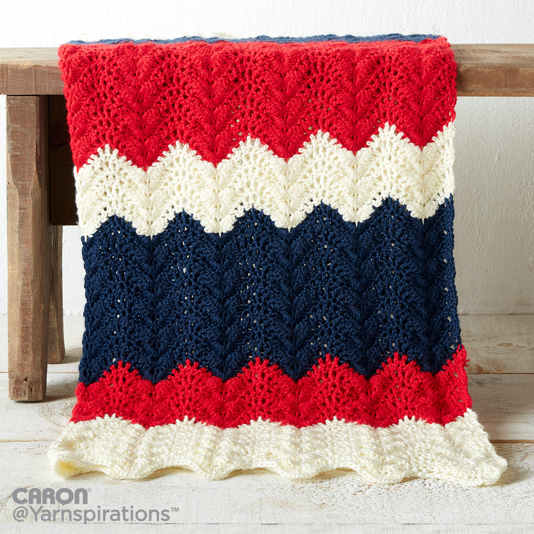 Summer Ripple Crochet Blanket