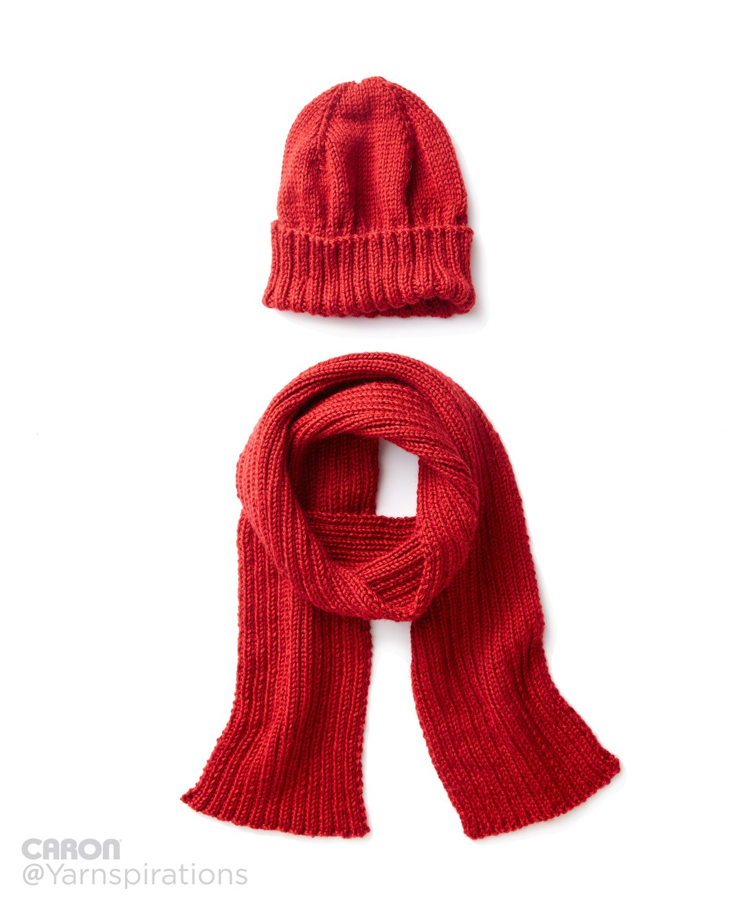 Men's Basic Hat and Scarf Set