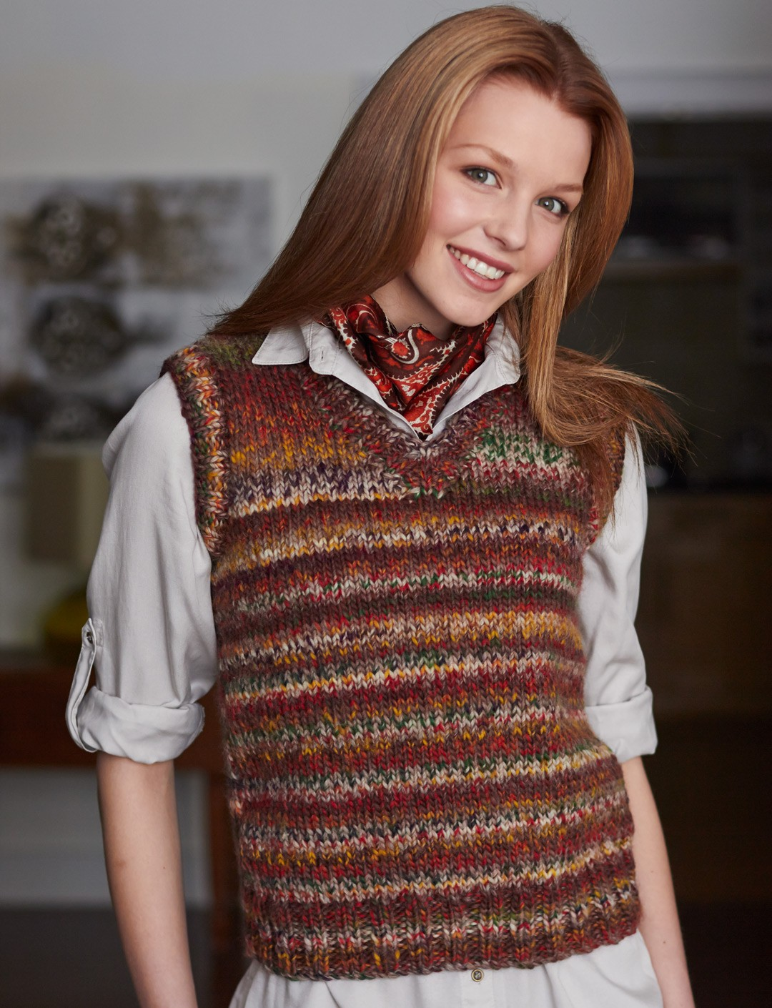 Patons Basic Vest, Knit Pattern Yarnspirations