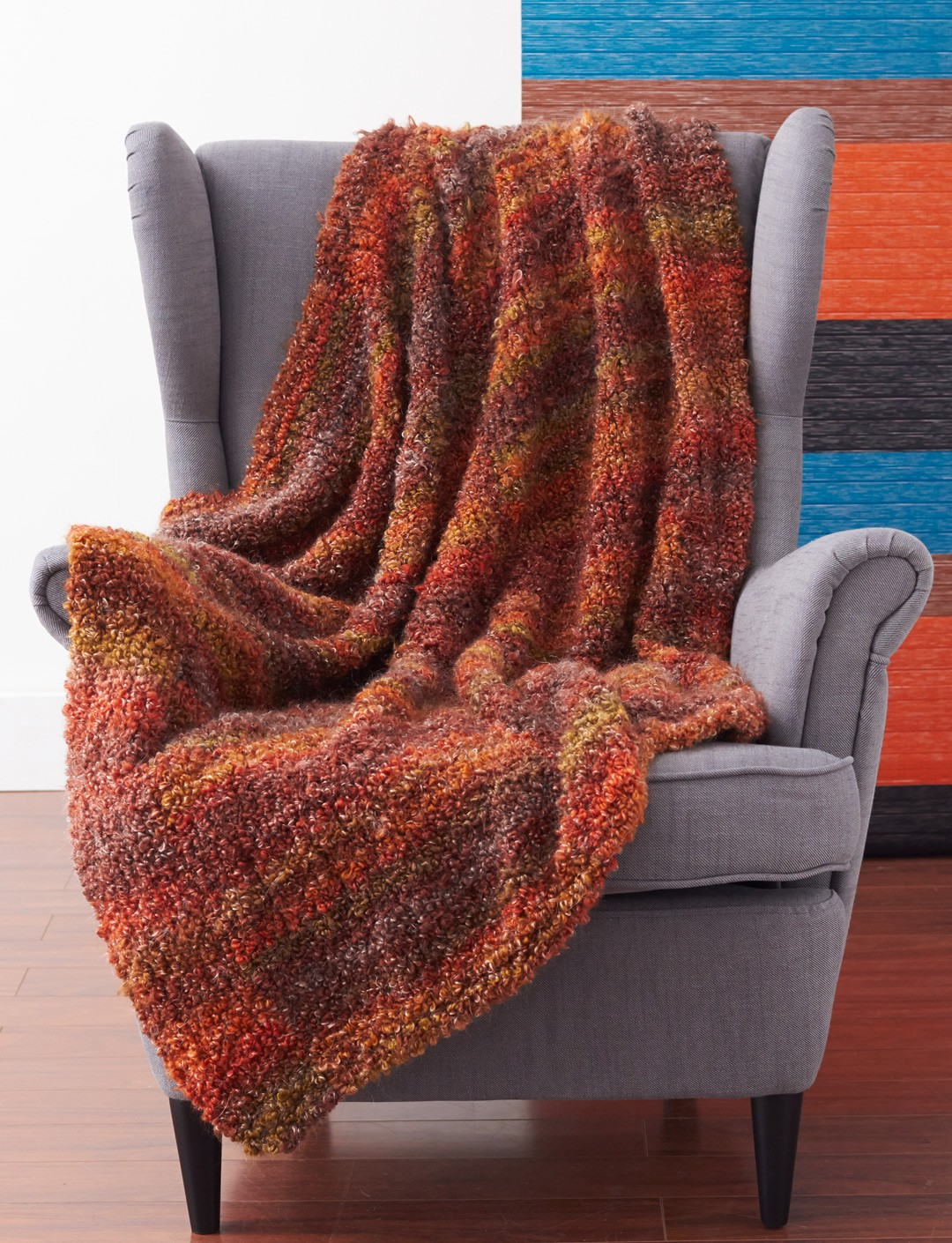 Knitting Pattern Afghan Beginner : Patons Cozy and Quick Blanket, Knit Pattern Yarnspirations