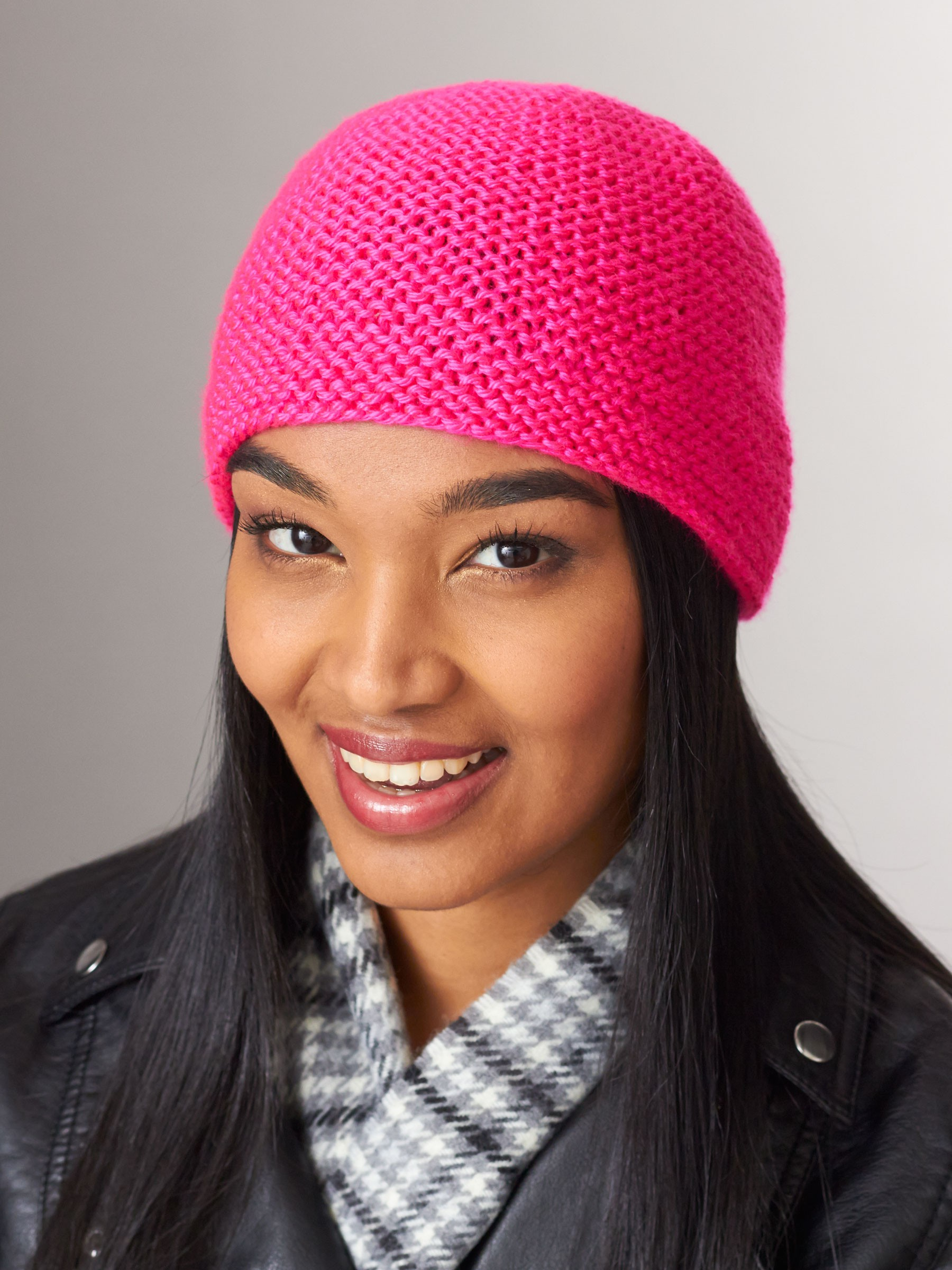 Free Knitting Pattern Garter Stitch Hat : Caron Simply Garter Stitch Hat, Knit Pattern Yarnspirations