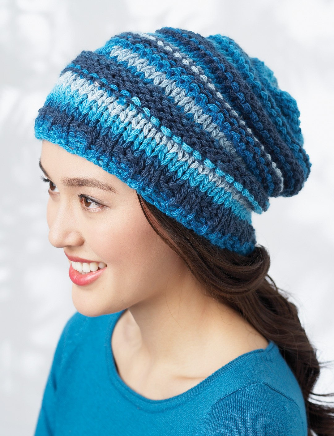 Free Knitting Pattern Hat Bulky Yarn : Bernat Bargello Hat, Knit Pattern Yarnspirations