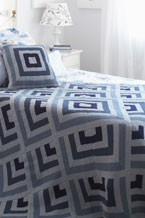 Graphic Blues Blanket and Pillow