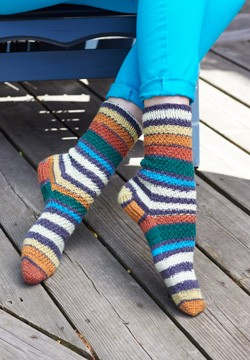 Free Knitting Pattern For Kroy Socks : Patons Step Dance Socks, Knit Pattern Yarnspirations