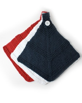 Red White and Blue Dishcloth