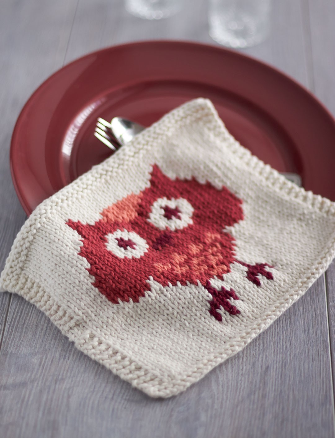 Owl Dishcloth