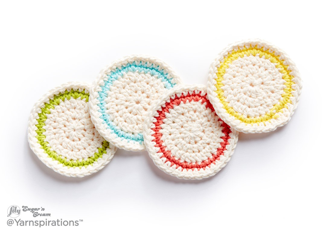 Lily round about crochet coasters crochet pattern yarnspirations round about crochet coasters bankloansurffo Choice Image