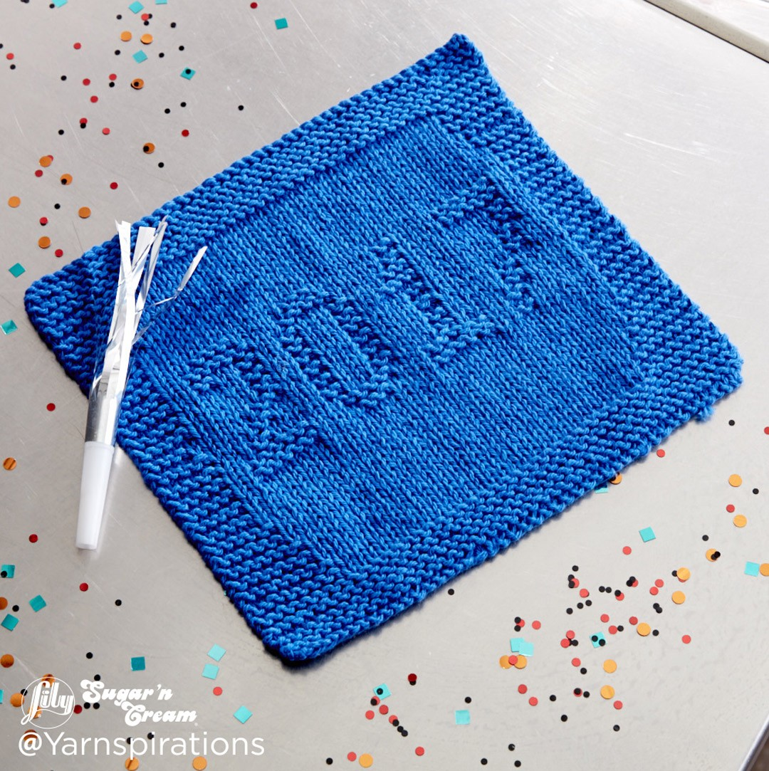 Lily 2017 Knit Dishcloth, Knit Pattern Yarnspirations