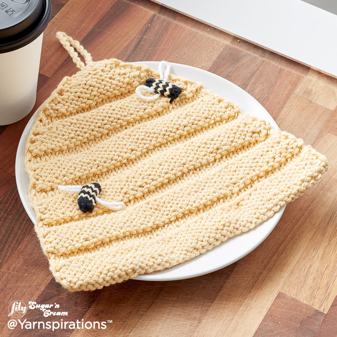 Beehive Knit Dishcloth