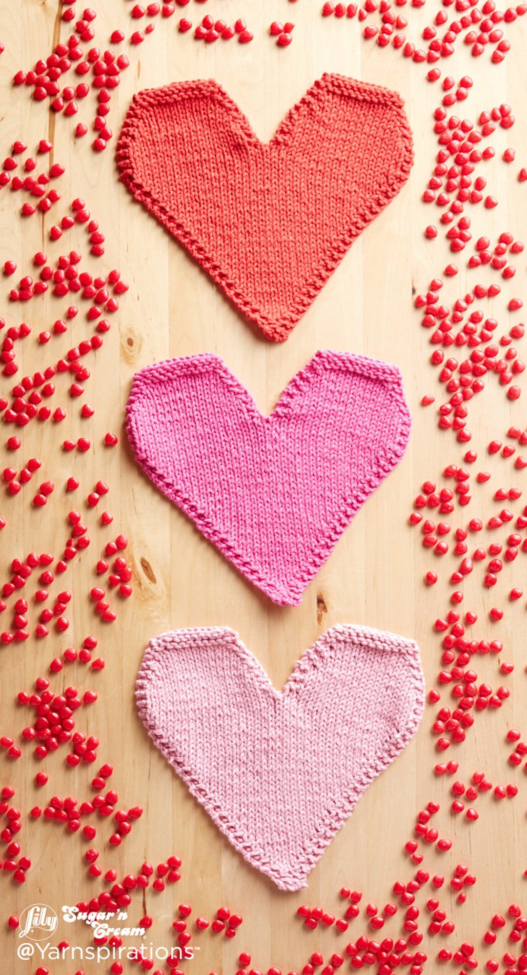 Be Mine Knit Dishcloth
