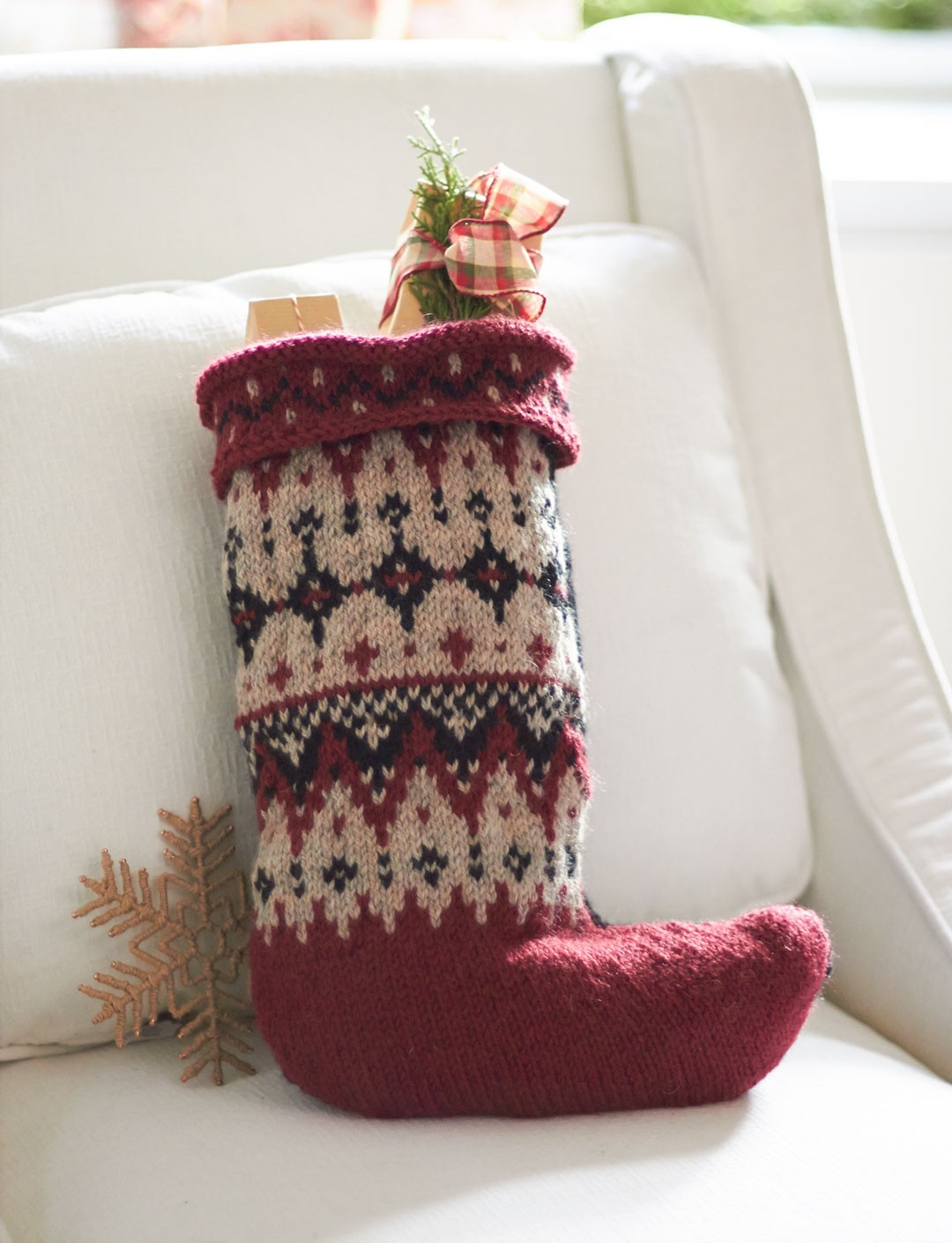 Fair Isle Knitting Kits Canada : Patons fair isle stocking knit pattern yarnspirations