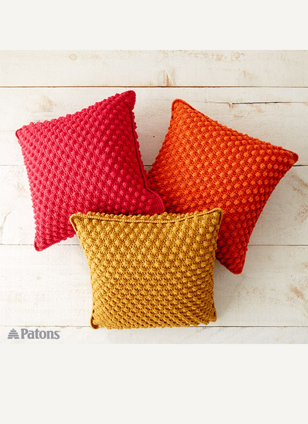 Patons bobble licious pillows crochet pattern yarnspirations bobble licious pillows bankloansurffo Image collections