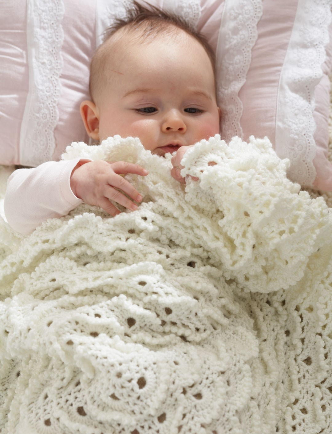Fluffy Meringue Stitch Blanket