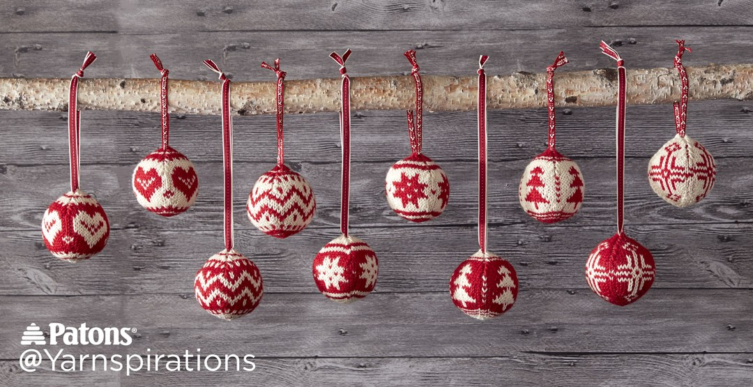 Fair Isle Knitting Kits Canada : Patons merry fair isle knit ornaments pattern
