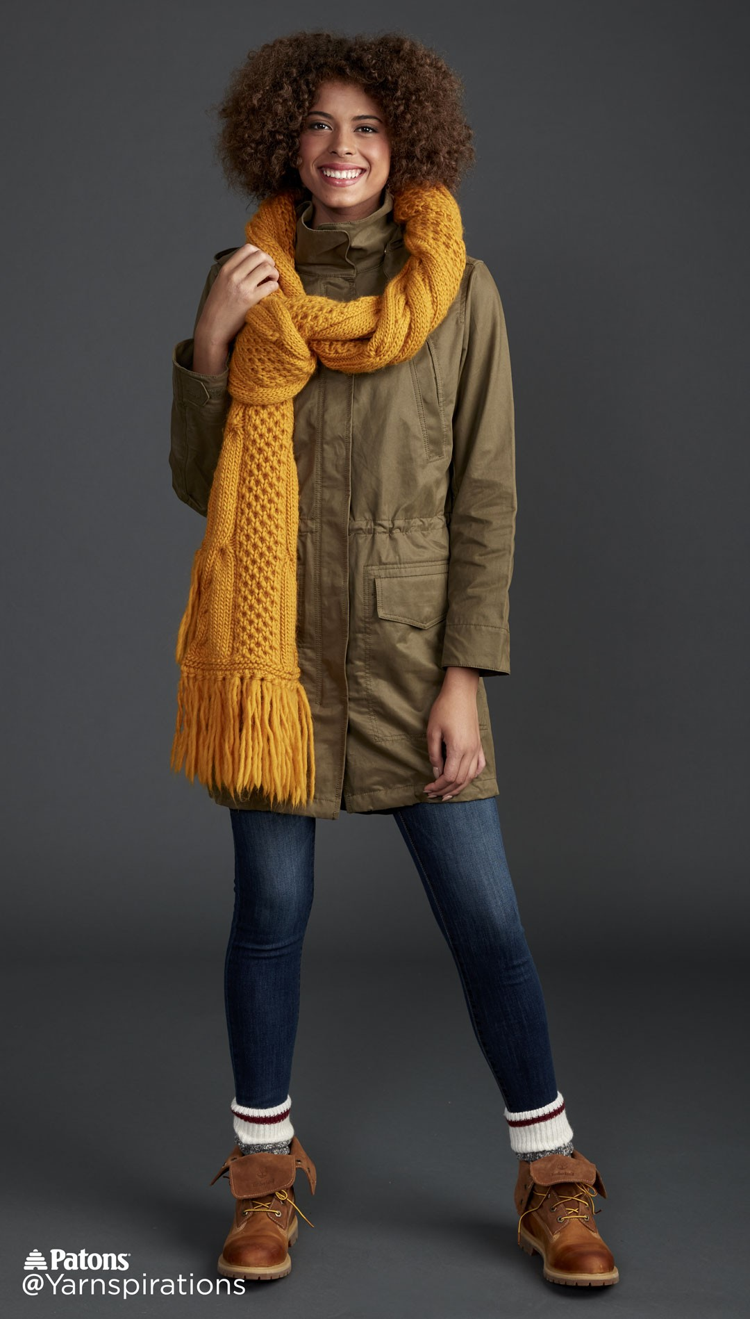 Honey Comb Twist Knit Super Scarf
