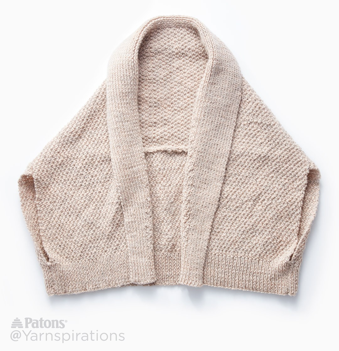 Amazing Knitting Patterns : Paton Knit Envelope Cardigan, Knit Pattern Yarnspirations