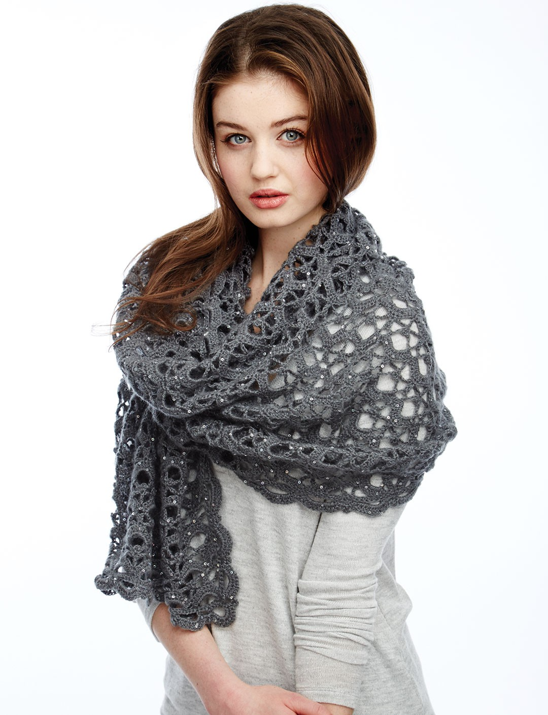Free Crochet Patterns Using Patons Lace Yarn : Crochet Shawls, Sweaters and Shrugs on Pinterest Shawl ...