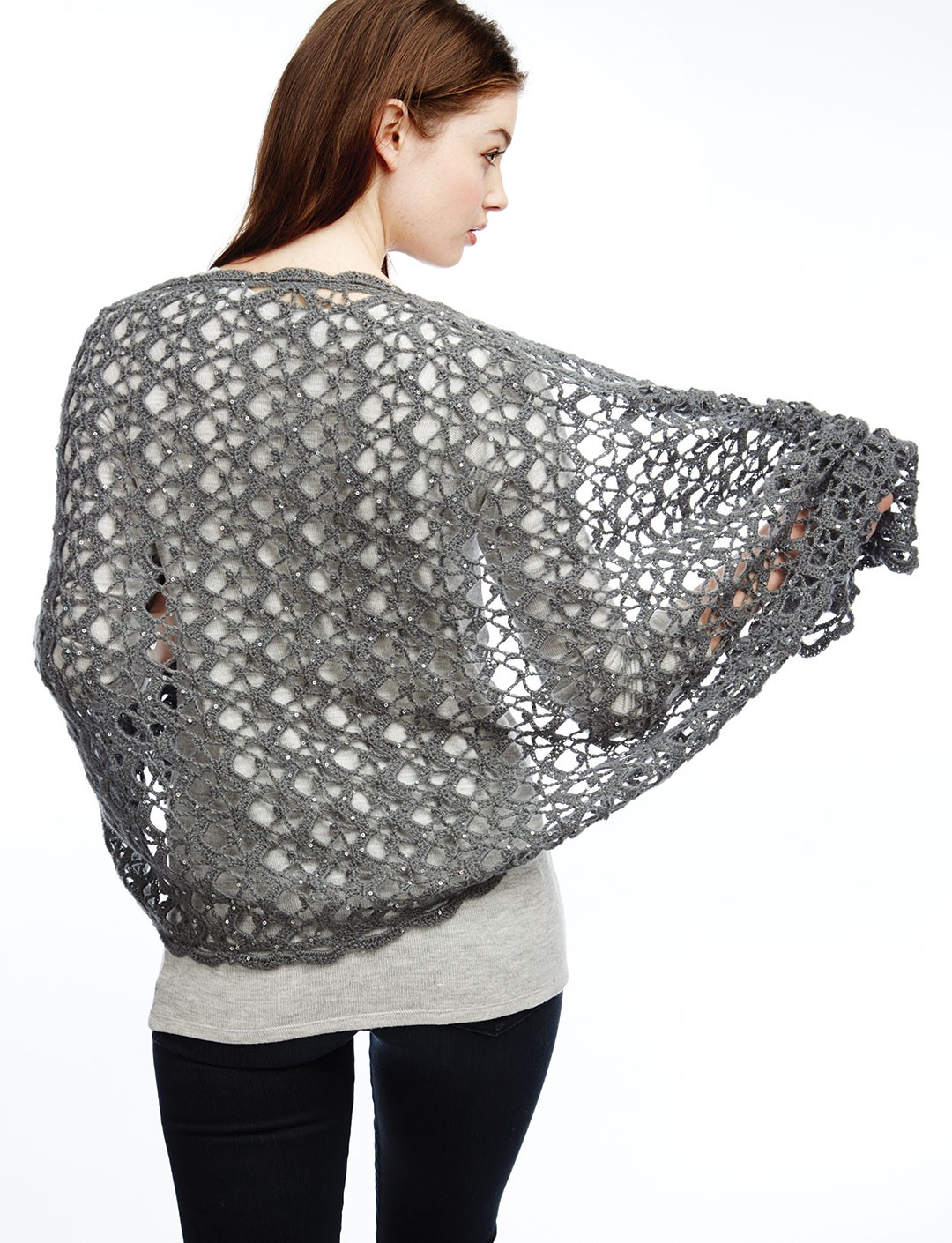 Crochet Shawl Patterns With Bulky Yarn : Patons Shine Like Diamonds, Crochet Pattern Yarnspirations