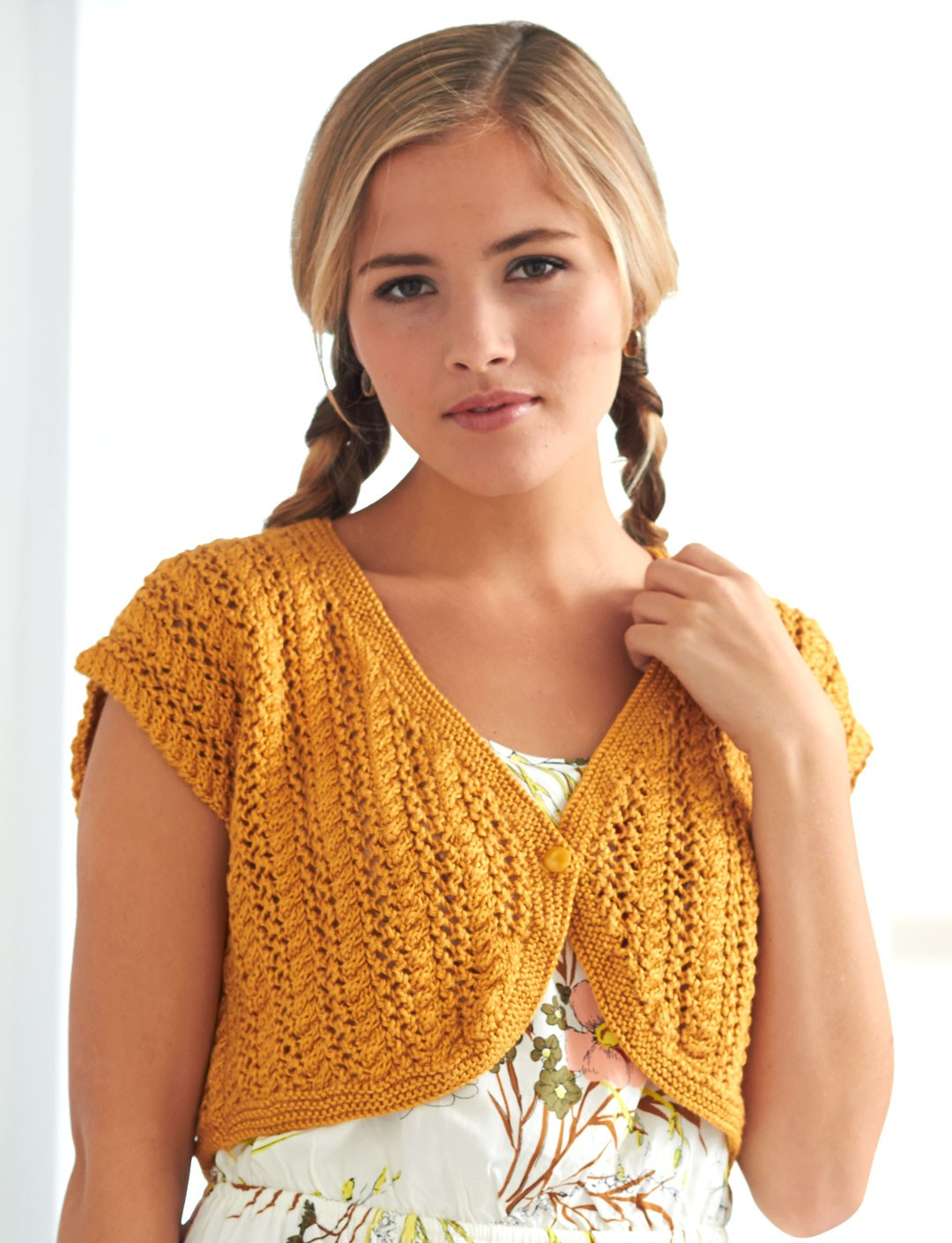 Free Crochet Patterns Using Patons Lace Yarn : Patons Cable Lace Bolero, Knit Pattern Yarnspirations